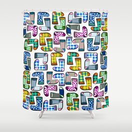 Colorful socks pattern Shower Curtain