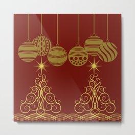 Golden Christmas spirit 1 Metal Print