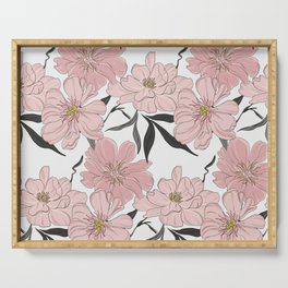 Peony flower bloom Serving Tray