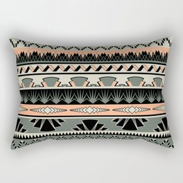 art deco stripes - salmon Rectangular Pillow