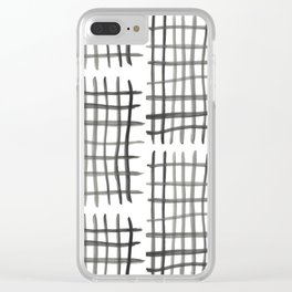 Hashtag, White Clear iPhone Case