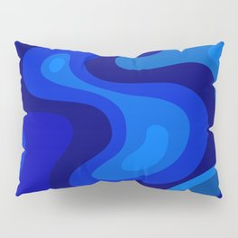 Multicolor Blue Liquid Abstract Design Pillow Sham