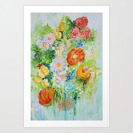 Delight in Flowers Art Print