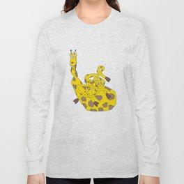 """Peter """"The Clumsy"""" Giraffe Long Sleeve T-shirt"""