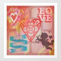 Happy V Day Art Print