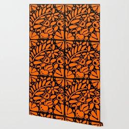 Beautiful Orange Otomi Wallpaper