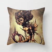 seahorse Throw Pillows featuring SEAHORSE by Tim Shumate
