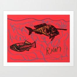 Unicorn Fish Art Print