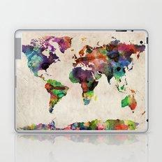 World Map Urban Watercolor Laptop & iPad Skin