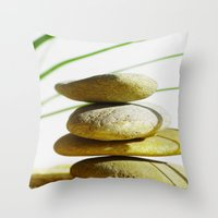 relax Throw Pillows featuring Relax  by Tanja Riedel