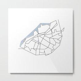 Citylines Malmö Metal Print