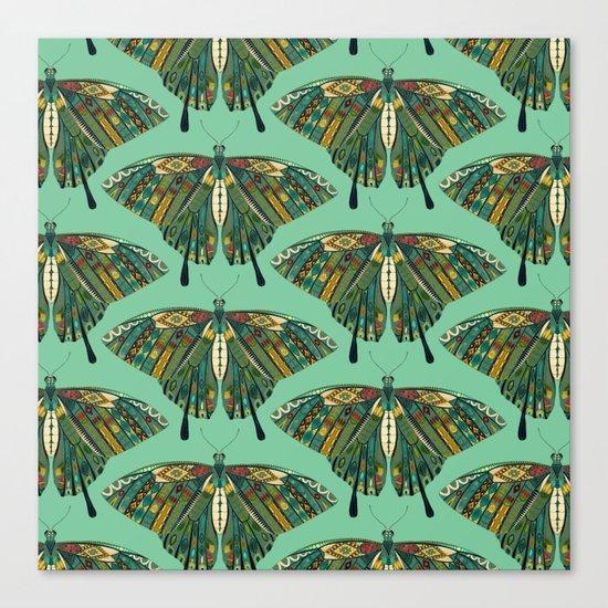 swallowtail butterfly emerald Canvas Print