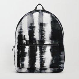 Tie-Dye Shibori Stripe BW Backpack