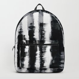 Tie-Dye Shibori Stripe BW Backpack