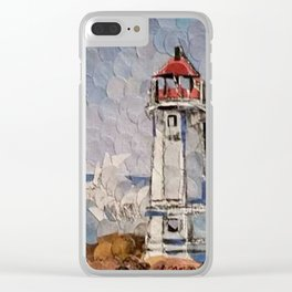 """"""" Lighthouse """" Clear iPhone Case"""