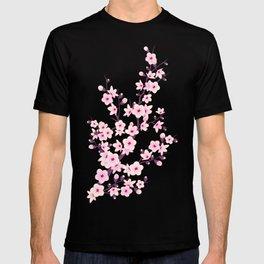 Cherry Blossom Pink White T-shirt