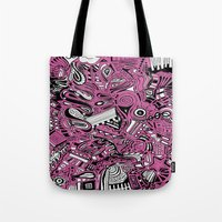 bubblegum Tote Bags featuring BubbleGum by DuckyB