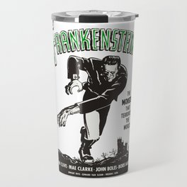 Frankenstein Vintage 1931 Movie Poster, Original Gift Idea, Boris Karloff, Bela Lugosi, Dracula Travel Mug