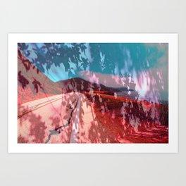 Distorted Hilltops #4 Art Print