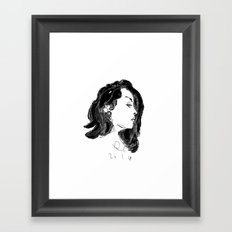 lady galoctopus Framed Art Print