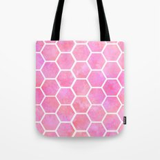 Tie Dye Honeycomb Tote Bag