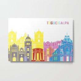 Tegucigalpa skyline pop Metal Print