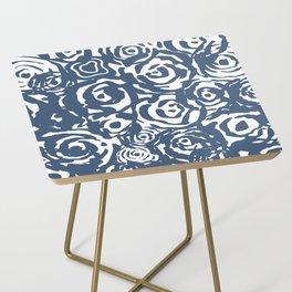 Navy Flower Bundle Side Table