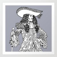 spanish Art Prints featuring Spanish Explorer by Art of Tom Tierney