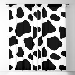 Cow Spots Pattern Cows Animal Farmer Black and White Art Blackout Curtain
