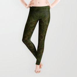 """Autumn mandala"" (Green-Grey Pattern) Leggings"