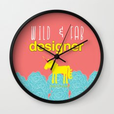 Design and Be Awesome! Wall Clock