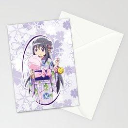 Homura Akemi - Yukata edit. (rev. 1) Stationery Cards