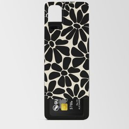 Black and White Retro Floral Art Print  Android Card Case