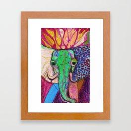 Elephant of Power Framed Art Print