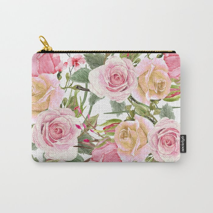 Watercolor Roses #1 Carry-All Pouch