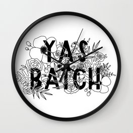 Yas Batch Wall Clock