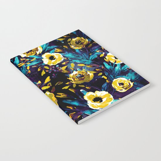 Golden Flowers Notebook