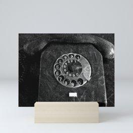 RFT phone, black and white photography Mini Art Print