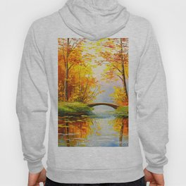 Bridge in the autumn forest Hoody