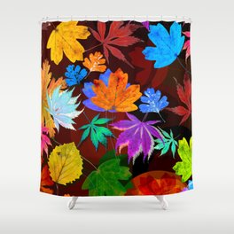Leaves-001 Shower Curtain