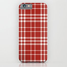 Red White Plaid iPhone Case