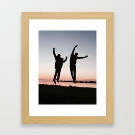 Sunset Jump Framed Art Print