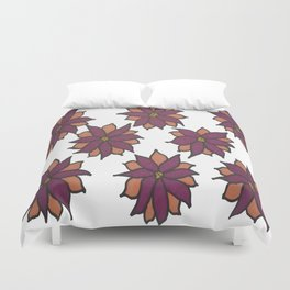 Holiday Two-Toned Flowers Duvet Cover