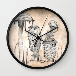 Bartholomew's Worry in Sepia Wall Clock
