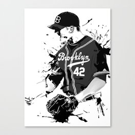Brooklyn 42 baseball man Canvas Print