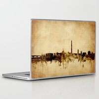 washington dc Laptop & iPad Skins featuring Washington DC Skyline by artPause