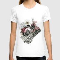vespa T-shirts featuring Vespa by Mariqui Romero