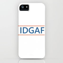 Dua Lipa IDGAF iPhone Case