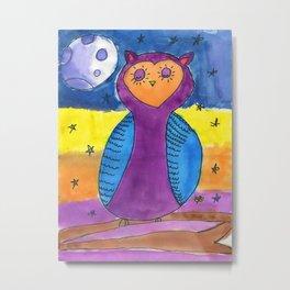 Owl at Night Metal Print