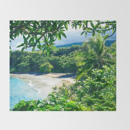 Hamoa Beach Hana Maui Hawaii Throw Blanket